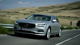 191741 New Volvo V90 running footage