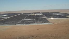 Extreme heat test runs, solar plant