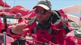 Chris Nicholson skipper Camper About Leg 1 Tactics (English)